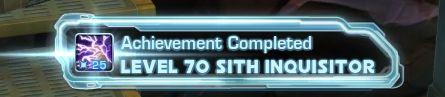 Level 70 Sith Inquisitor Achievement