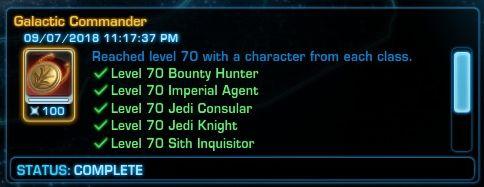 Galactic Commander Achievement